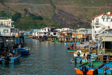 Boats In A Small Fishing Villa...