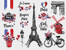 Paris Vintage Watercolor Illus...
