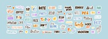 Collection Of Sticker Words Te...