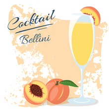 Bellini Cocktail Alcohol Peach...