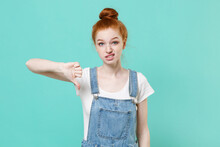 Displeased Young Readhead Girl...