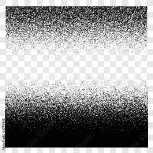 Grunge gradient spray halftone and stipple transparent texture vector set, sand Canvas-taulu