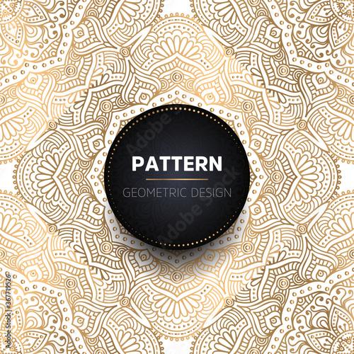 Leinwand Poster luxury ornamental mandala design background