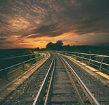 Fototapeta Kawa jest smaczna - The great rail viaduct made from bricksz