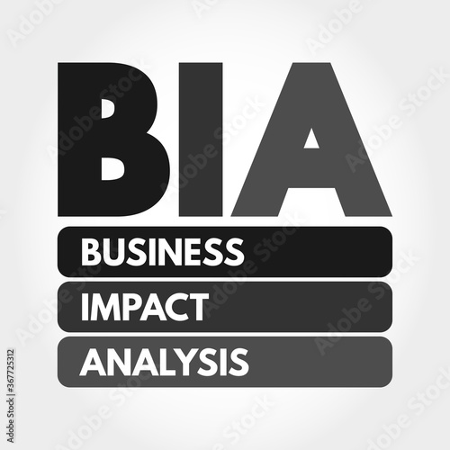 BIA - Business Impact Analysis acronym, concept background Canvas Print