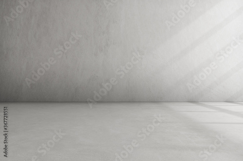 Obraz Abstract architecture space, Interior with concrete wall. 3d render.  - fototapety do salonu