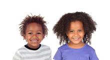 Two Afroamerican Siblings Laughing