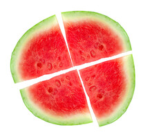Watermelon Pizza Isolated