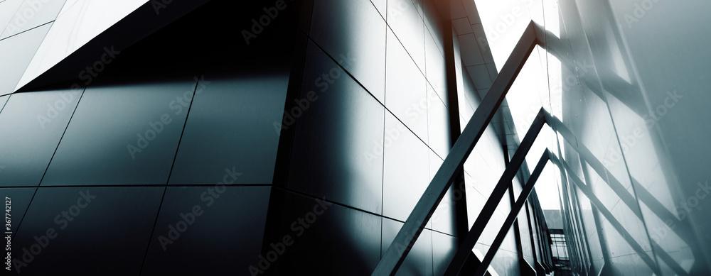 Fototapeta commercial building skyscraper made of glass. Website header or banner