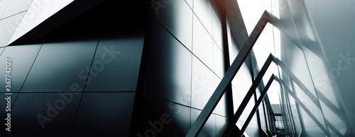 Obraz commercial building skyscraper made of glass. Website header or banner - fototapety do salonu