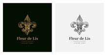 Elegant Luxury Fleur De Lis Vector