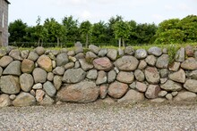 Old Stone Wall With Beautiful ...