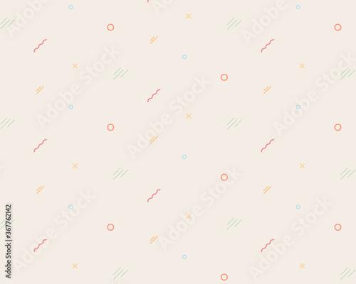 Obraz 幾何学模様の小さい図形のパターン/デザイン/おしゃれ/丸/シンプル/背景 - fototapety do salonu