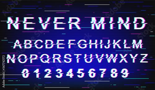 фотография Never mind font template