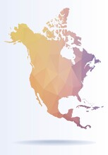 Polygonal Map Of North America
