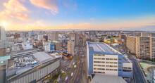 Miyazaki City Downtown Skyline Cityscape  In Kyushu, Japan