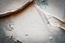Peeling Wall Paint. Vintage Grunge Plaster Or Concrete Stucco Surface. Old Rough Stone On Cement Pattern Wall Background. Montage Product Design Concept.
