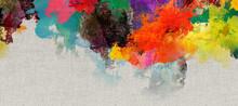 Texturen Farben Bunt Leinwand Banner
