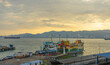 Panoramic view of Penang Port in Butterworth, Malaysia