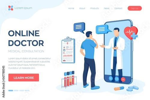 Slika na platnu Online medical consultation and support services concept