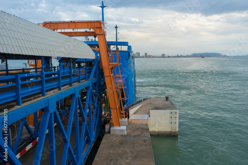 Obraz na plátně Penang ferry named as Pulau Talang Talang is one of the attraction in Penang , M