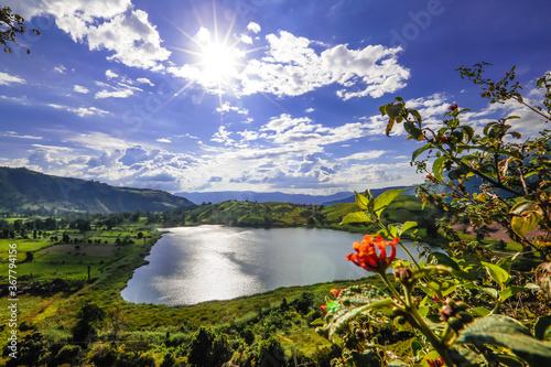 Obraz na plátně laguna,ortices,san,andres,santander,Colombia,agua,paisaje,soleado,naturaleza,sol