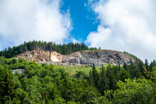 A Stone Quarry On Top Of The Mountain