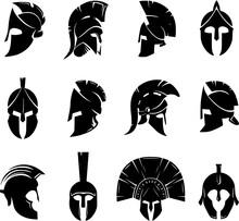 Spartan Helmet Set Vectorspa...