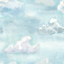 Hand Painted Watercolor Clouds