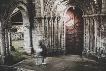 Porch Of Vilar De Donas Church...