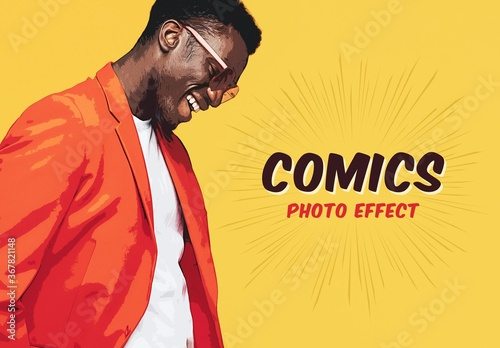 Fototapeta Comic Style Photo Effect Mockup obraz