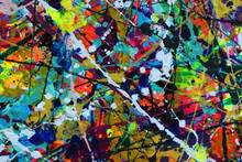 Colorful Splatter Art For Fun Abstract Backgrounds.