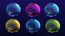Force Shield Bubbles, Color En...