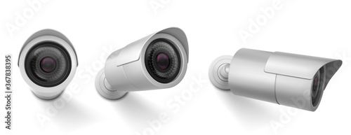 Security camera in different views Wallpaper Mural