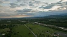 Rural Landscape. Aerial View O...