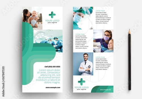 Fototapeta Thin Flyer for Hospital and Medical Services obraz