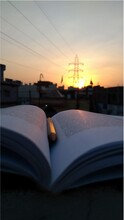 Sunset And Book Reading