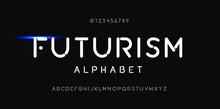 Futurism Style Alphabet. Decor...