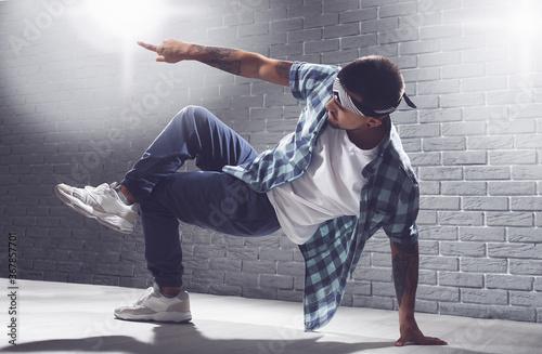 Tela Male hip-hop dancer in studio