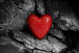 Fototapeta Tęcza - Romantic Shiny Heart Texture