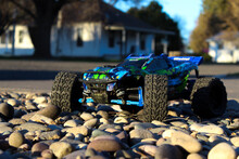 RC Toy In The Rocks
