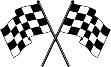 Racing NASCAR Checkered Flag Speed Flag Car Racing Flag Eps Vector