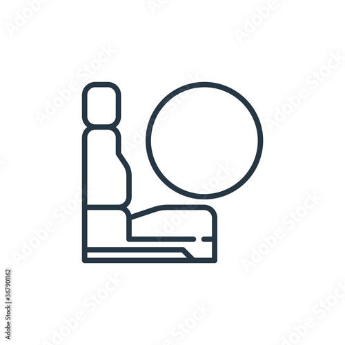 airbag icon vector from car engine concept Wallpaper Mural
