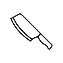 Knife Icon Vector Illustration.