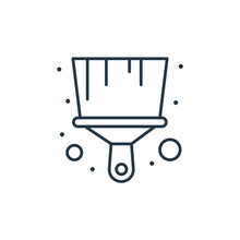 Brush Icon Vector From Labour Day Concept. Thin Line Illustration Of Brush Editable Stroke. Brush Linear Sign For Use On Web And Mobile Apps, Logo, Print Media.