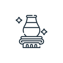 Vase Icon Vector From Auction Concept. Thin Line Illustration Of Vase Editable Stroke. Vase Linear Sign For Use On Web And Mobile Apps, Logo, Print Media.