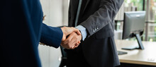 Business People Shaking Hand T...