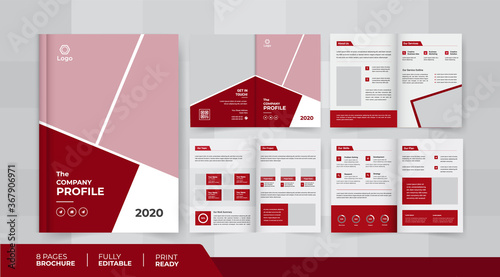 Valokuva 8 pages business company profile brochure design use it is for business promotio