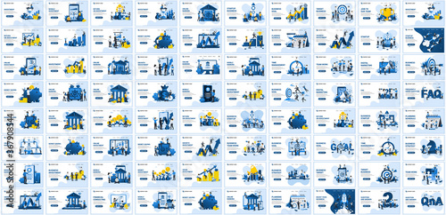 Fototapeta Big collection concept of business flat vector illustration