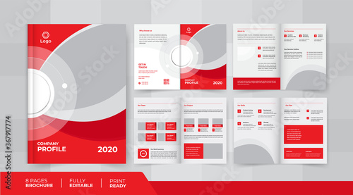 Valokuvatapetti 8 pages business company profile brochure design use it is for business promotio